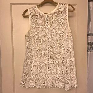 CAbi Needle Lace Shell